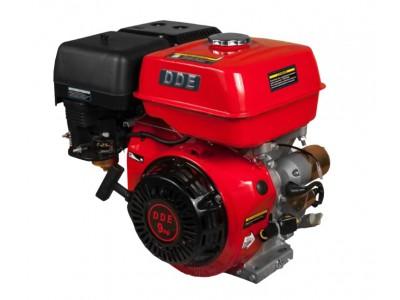 Двигатель бензиновый 4-хтактный DDE 177F-S25E (фильтр-картридж, датчик уровня масла, электростартер 12V)
