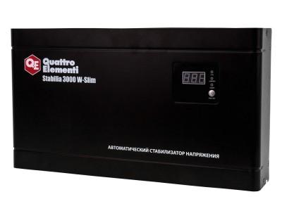 Стабилизатор напряжения QUATTRO ELEMENTI Stabilia 3000 W-Slim Настенный