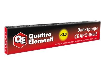 Электроды сварочные QUATTRO ELEMENTI рутиловые, 2,0 мм, 0.9 кг
