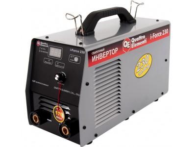 Аппарат электродной сварки, инвертор QUATTRO ELEMENTI i-FORCE 230 (Дисплей, TIG-Lift) ПРОФИ