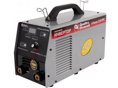 Аппарат электродной сварки, инвертор QUATTRO ELEMENTI i-FORCE 210 PFC (Дисплей, TIG-Lift) ПРОФИ