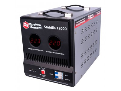 Стабилизатор напряжения QUATTRO ELEMENTI Stabilia 12000 (байпас)