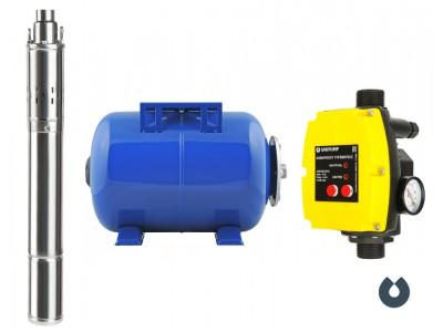 Станция автоматического водоснабжения Unipump Акваробот ECO VINT 1-50